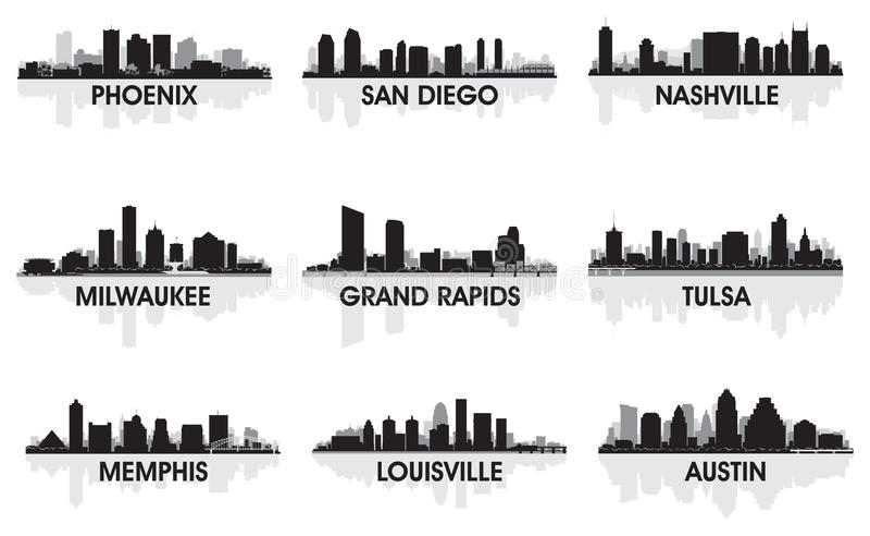 Villes américaines illustration libre de droits