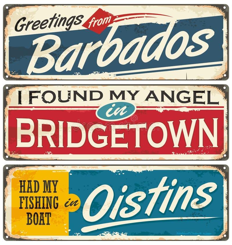 Villes des Barbade et destinations de voyage illustration libre de droits