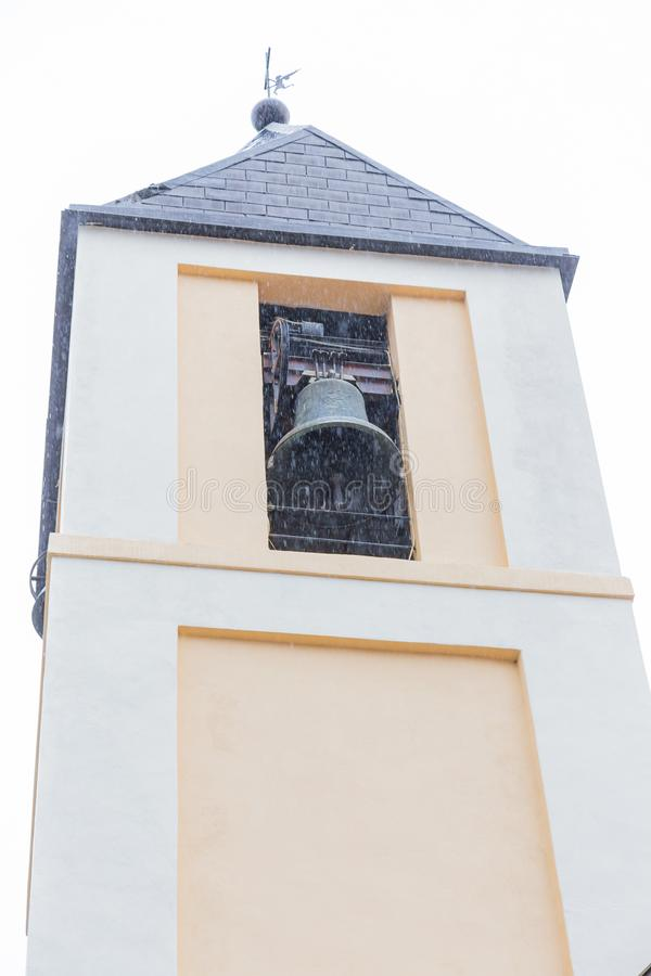 Church S.Maria Assunta, Villetta Barrea, Abruzzo, Italy. October. Villetta Barrea, Abruzzo, Italy. 13 October 2017. Photographic documentation of the church of S royalty free stock photo