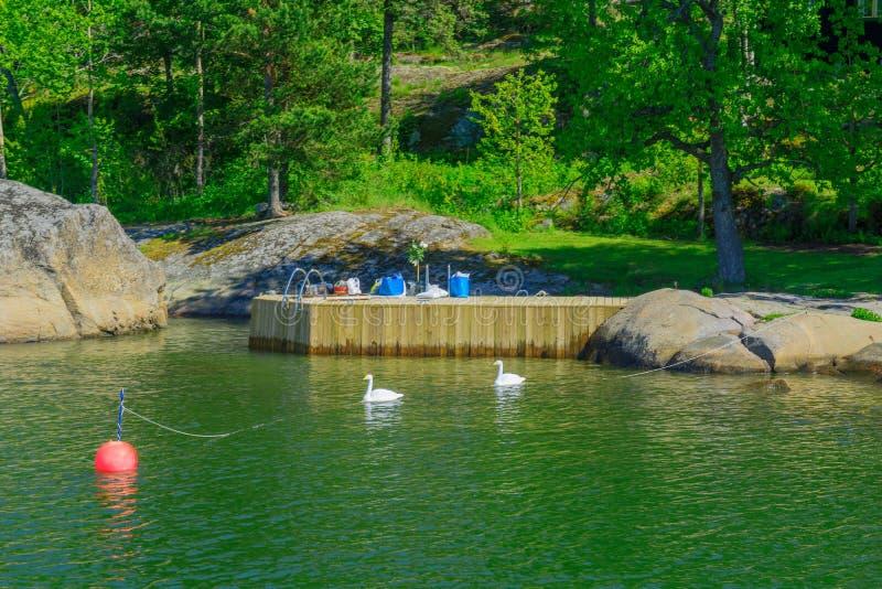 Villinki ö, i Helsingfors fotografering för bildbyråer