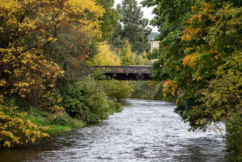 Vilnele-Fluss in Uzipis-Bezirk stockbild
