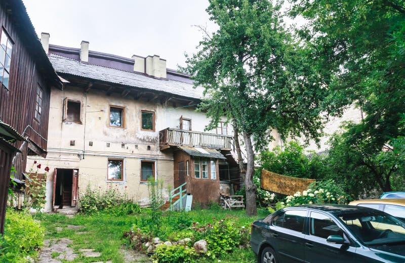 vilnius Προαύλιο στην περιοχή Uzupis στοκ εικόνες