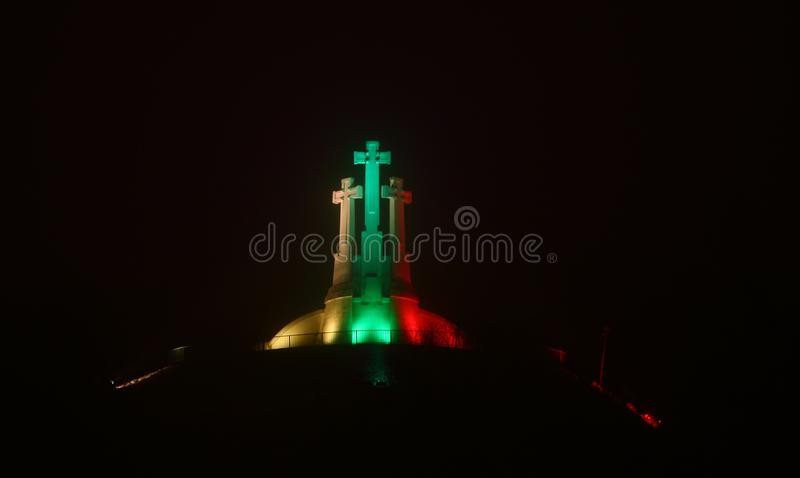 Vilnius - πρωτεύουσα της Λιθουανίας τη νύχτα στοκ φωτογραφίες με δικαίωμα ελεύθερης χρήσης