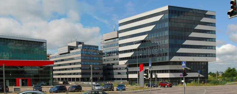 Vilnius σήμερα. Νέα κτήρια στα perkunkiemis. στοκ εικόνα