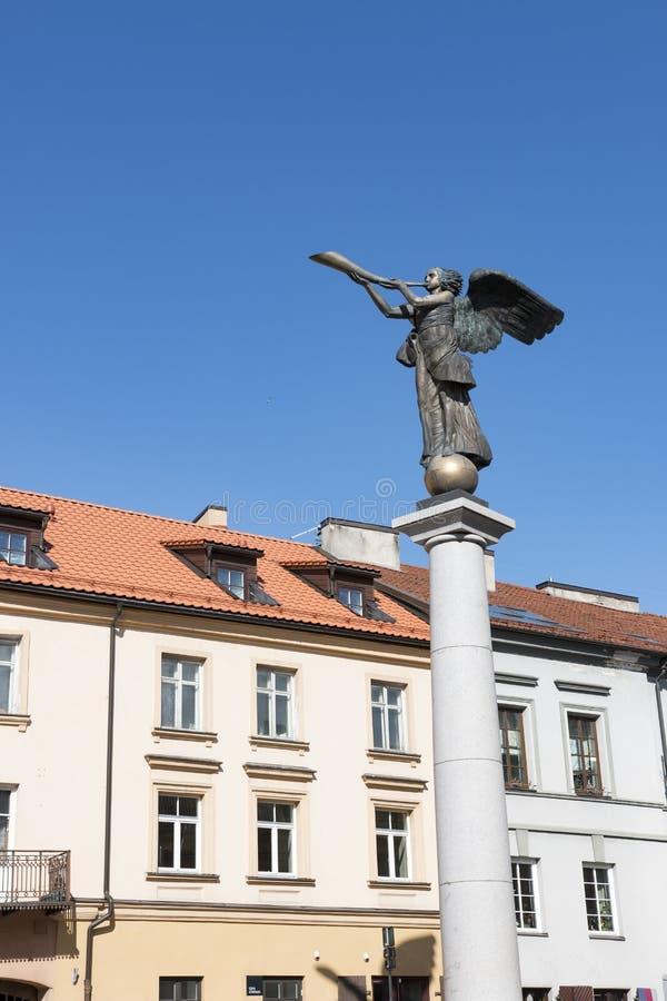 vilnius της Λιθουανίας Άγαλμα ενός αγγέλου σε Uzupio, μια Βοημίας περιοχή σε Vilnius, Λιθουανία στοκ φωτογραφίες με δικαίωμα ελεύθερης χρήσης