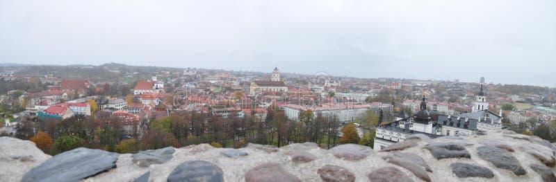 vilnius Панорама от держателя Gedimin стоковое фото rf