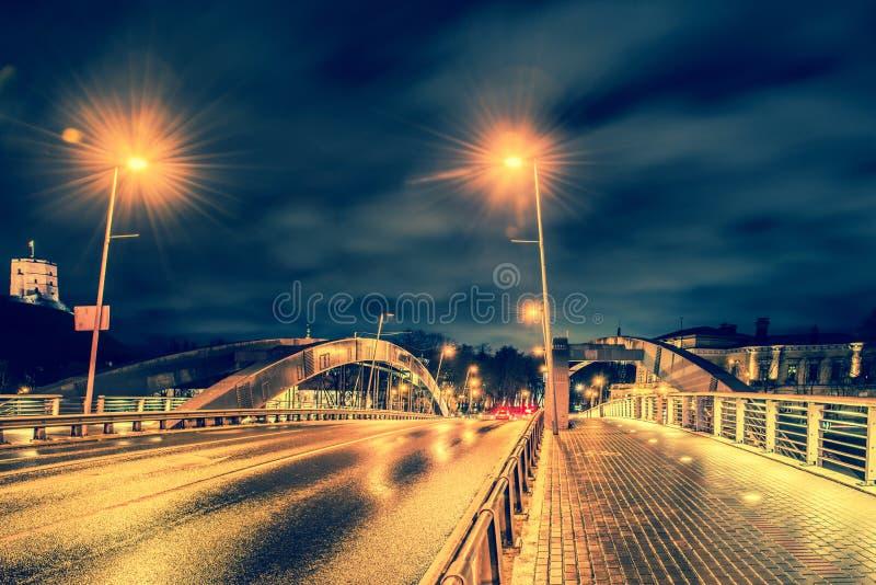 Vilnius bridge stock images