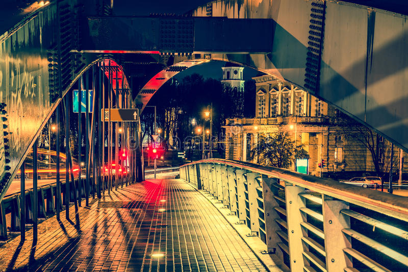 Vilnius bridge royalty free stock photo