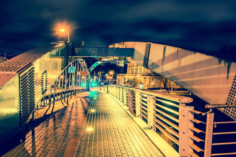 Vilnius bridge royalty free stock photography