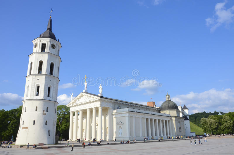 Vilnius Cathedral. Is the main Roman Catholic Cathedral of Lithuania. It is situated in Vilnius' Old Town, just off the Cathedral Square. It is the heart of royalty free stock photography