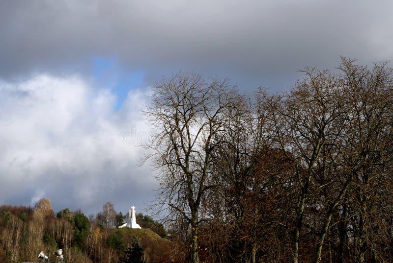 Vilnius city landscape. Vilnius, Lithuania travel enjoying nice city landscapes and architecture details stock photography