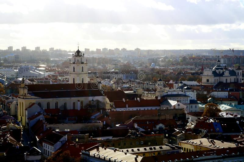Vilnius city landscape. Vilnius, Lithuania travel enjoying nice city landscapes and architecture details royalty free stock images
