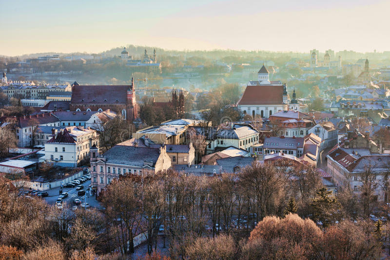 Vilnius cityscape arkivfoto