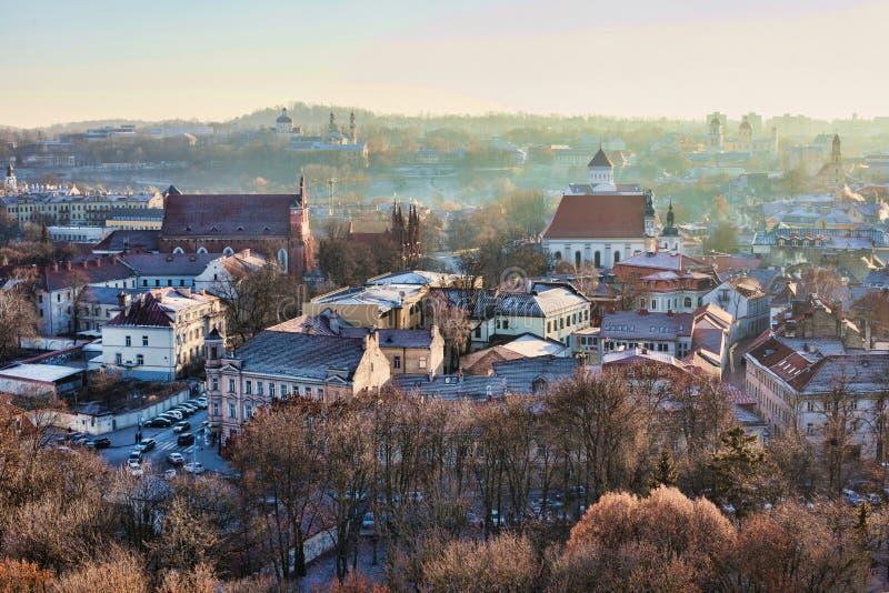 Vilnius cityscape stock photo