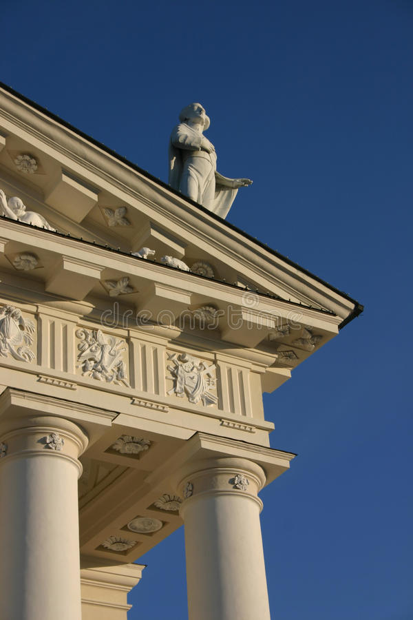 Vilnius domkyrkadetalj royaltyfria bilder