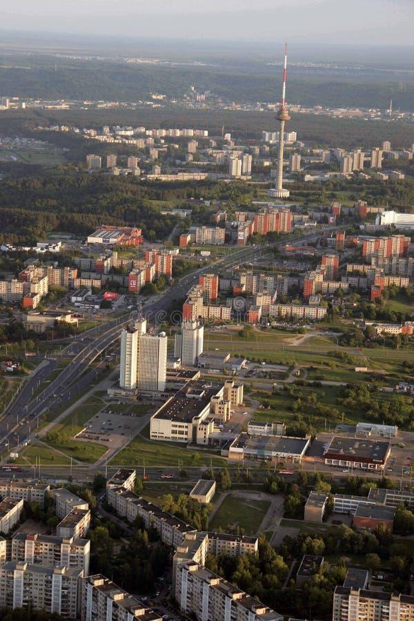 Vilnius Fernsehturm, Litauen-Foto gemacht von Luft baloon stockfoto