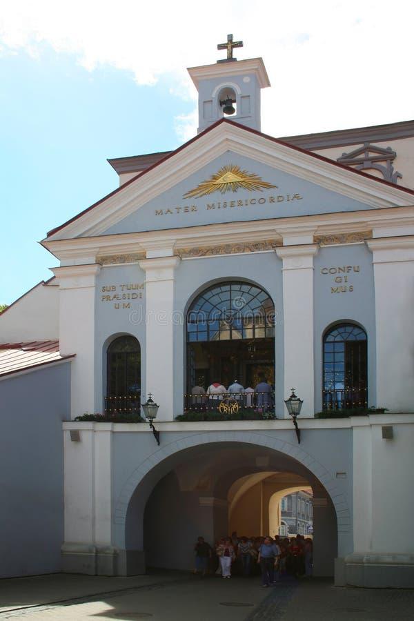 Vilnius il portone dell'alba immagine stock