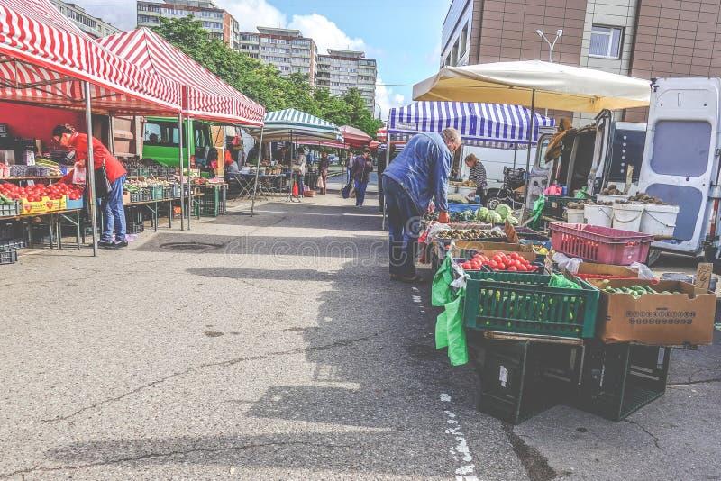 Vilnius Karoliniskes marknadsställe royaltyfria bilder