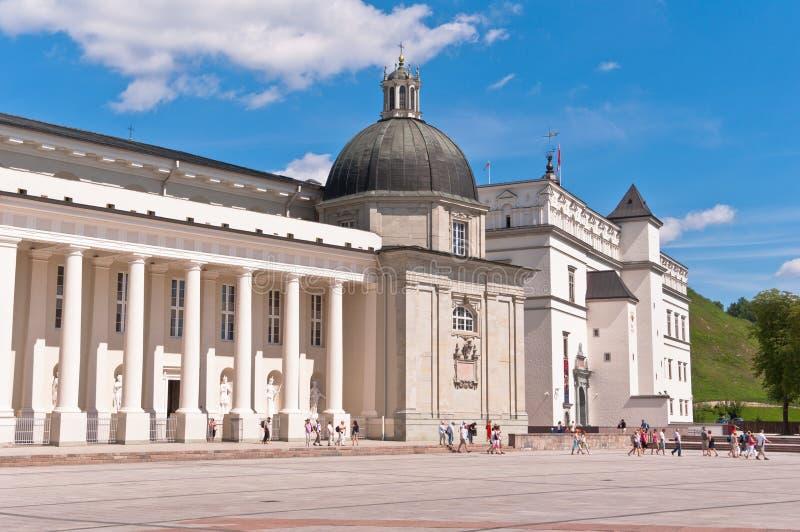 Vilnius katedra przy Pięknym letnim dniem zdjęcie stock