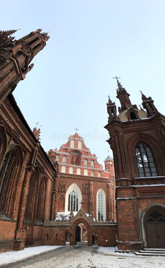 Vilnius-Kirche stockbild