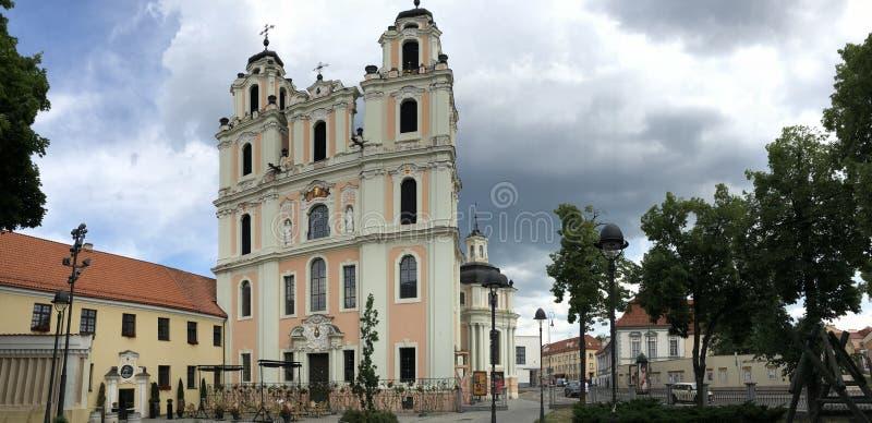 vilnius La capitale della Lituania Vecchia città fotografia stock libera da diritti