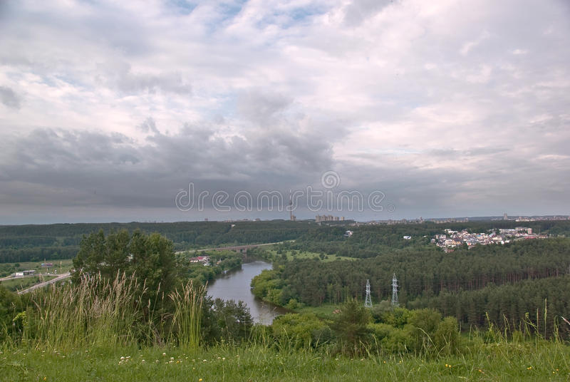 Vilnius landscape stock image