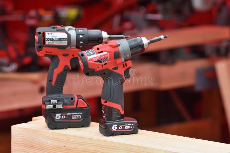 Milwaukee power tools stock photo
