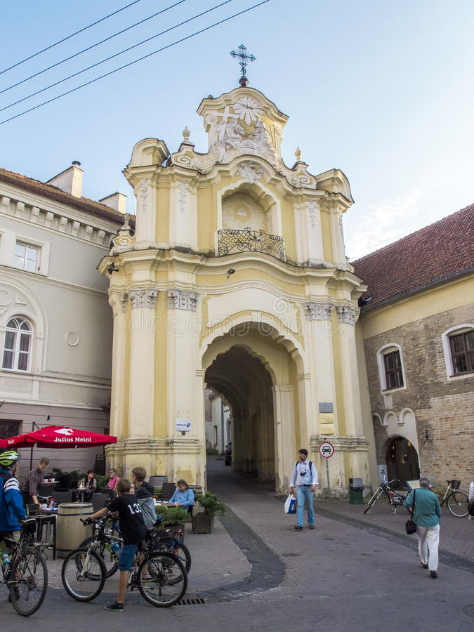 Vilnius, Lithuania - August 16, 2013. Gate Basilian monastery in royalty free stock photos