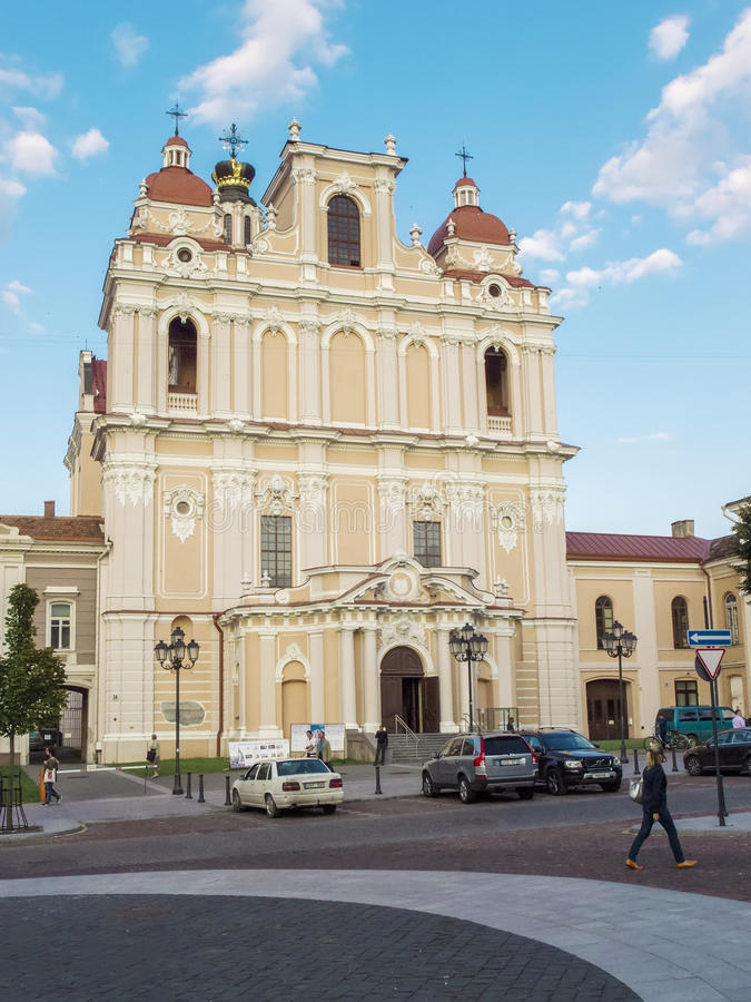 Vilnius, Lithuania - August 16, 2013. St. Casimir`s Church Sv. stock photo