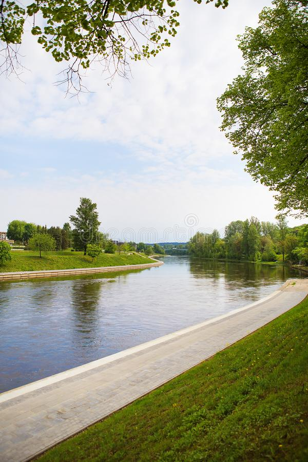 Vilnius - Lithuania, beautiful view of the river royalty free stock image