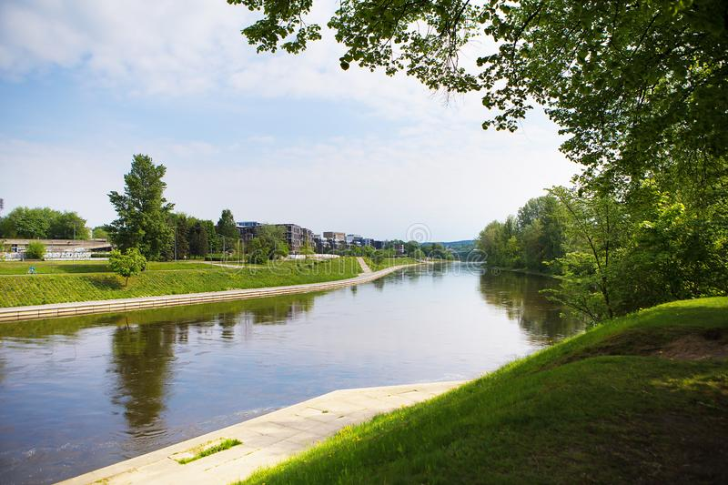 Vilnius - Lithuania, beautiful view of the river stock image