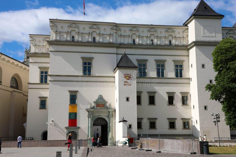VILNIUS, LITHUANIA, CZERWIEC 7, 2018: Pałac Uroczyści diucy L obraz royalty free