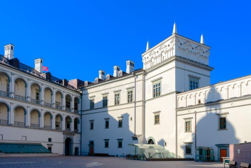 Vilnius Lithuania, Kwiecień, - 08, 2019: Pałac Uroczyści diucy Lithuania w Vilnius, Lithuania fotografia stock