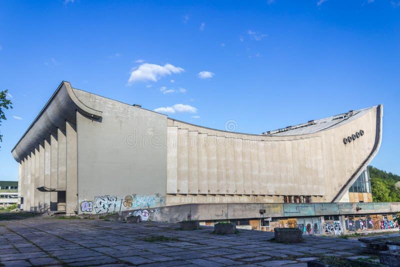 Vilnius Lithuania, Maj, - 08, 2019: W nowym stylu, naktinis klubas, multimedie obraz stock