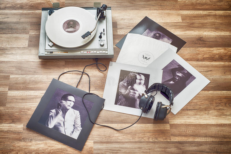 VILNIUS, LITHUANIA - 2015: Marilyn Manson vinyl record the pale emperor album royalty free stock photo