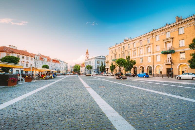 Vilnius Lithuania Widok Didzioji ulica, Antyczny Showplace Wewnątrz fotografia royalty free