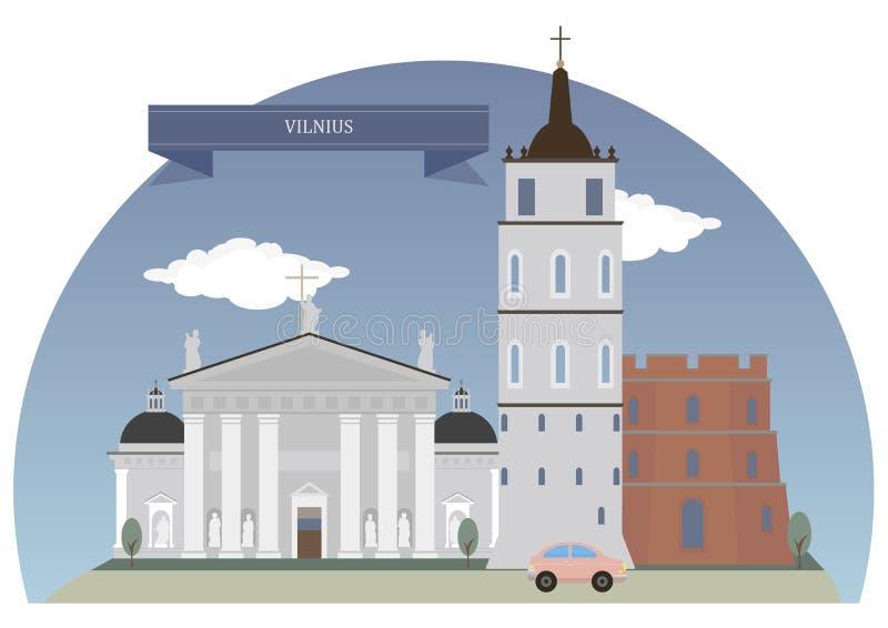 Vilnius, Lithuanie illustration stock