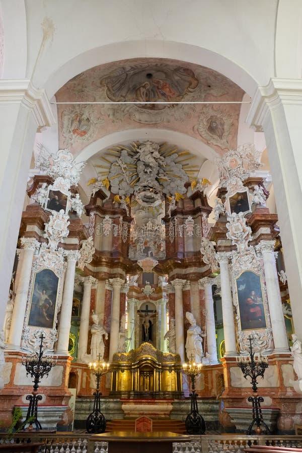 Vilnius, Lithuanie - 5 mai 2017 : église intérieure de St Johns d'intérieur, Vilnius, Lithuanie photographie stock