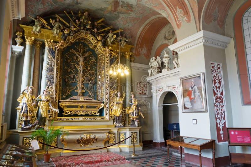Vilnius, Lithuanie - 5 mai 2017 : intérieur la chapelle de l'église de St Johns, Vilnius images libres de droits