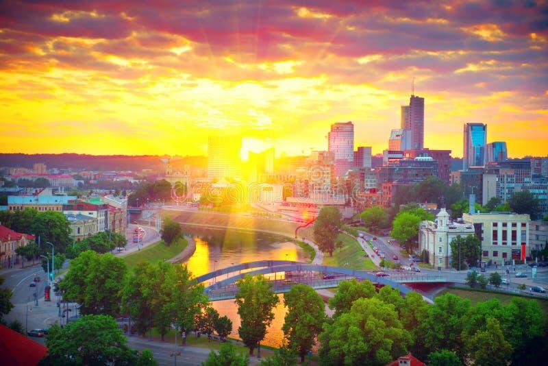Vilnius, Lithuanie panorama vilnius images libres de droits