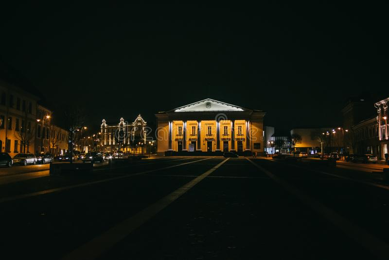 Vilnius, Litouwen: het Stadhuis, Litouwse Vilniaus royalty-vrije stock afbeelding
