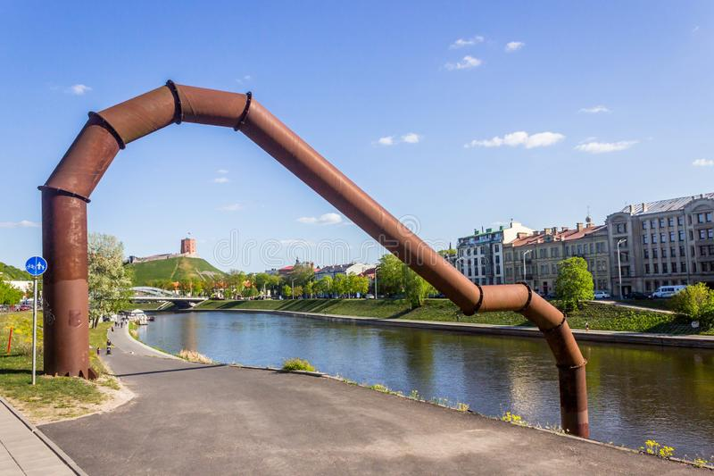 Vilnius, Lituânia - 8 de maio de 2019: monumentos e estátuas de Vilnius imagens de stock