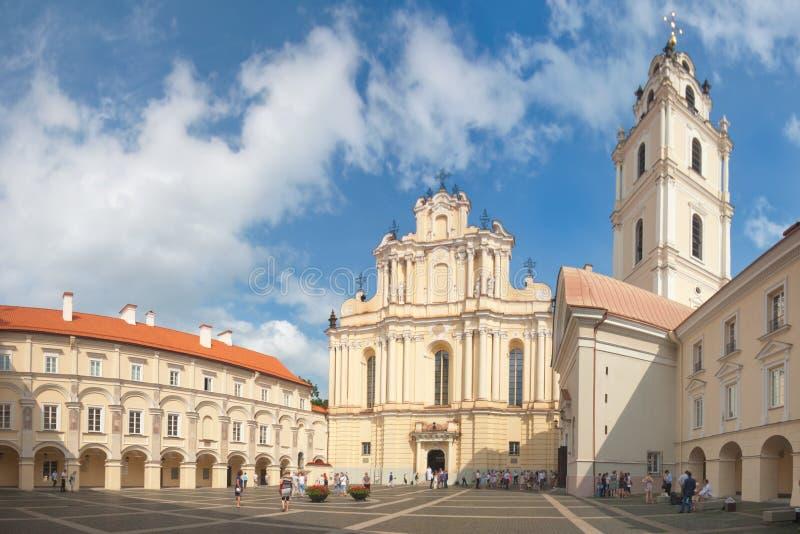 VILNIUS, LITUÂNIA, O 10 DE AGOSTO:  Universidade de Vilnius. imagem de stock royalty free