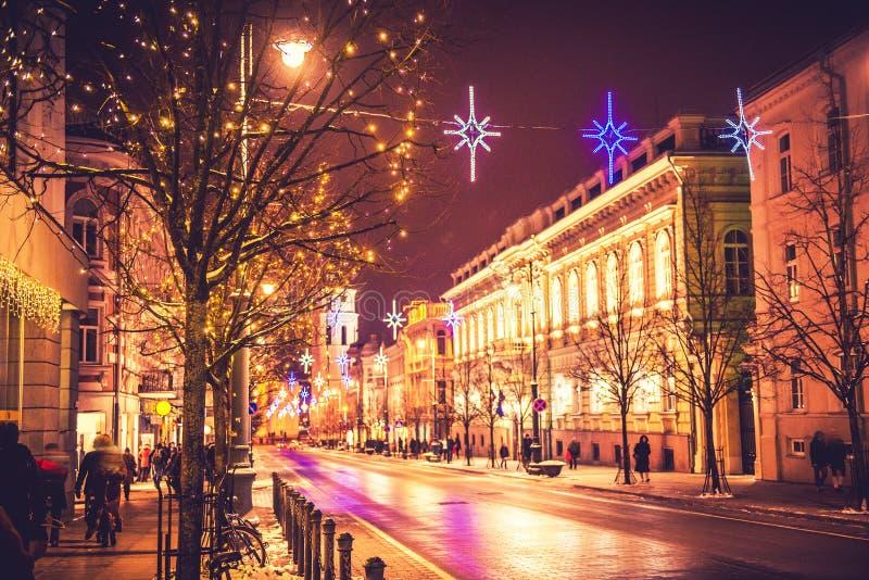 Vilnius Lituânia, tempo do Natal imagens de stock royalty free