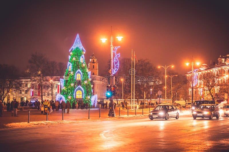 Vilnius Lituânia, tempo do Natal foto de stock royalty free