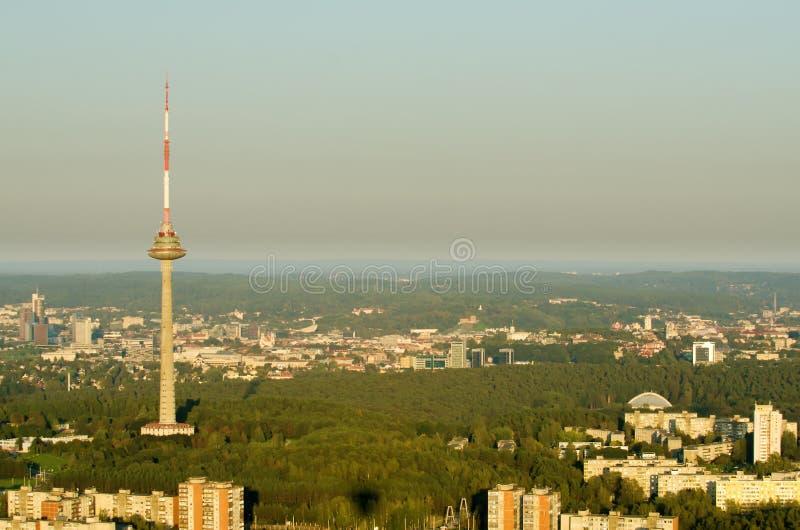 Vilnius, Lituânia: Torre da tevê foto de stock