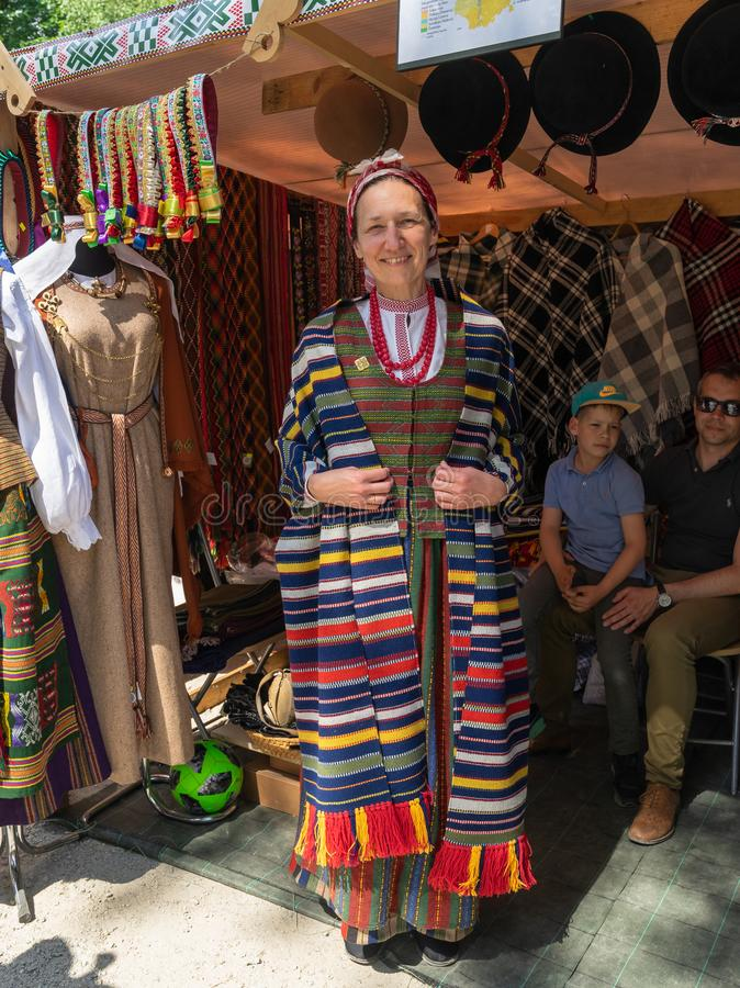 VILNIUS, LITU?NIA - 25 DE MAIO DE 2019: Festival de m?sica folk anual SKAMBA SKAMBA KANKLIAI imagem de stock royalty free
