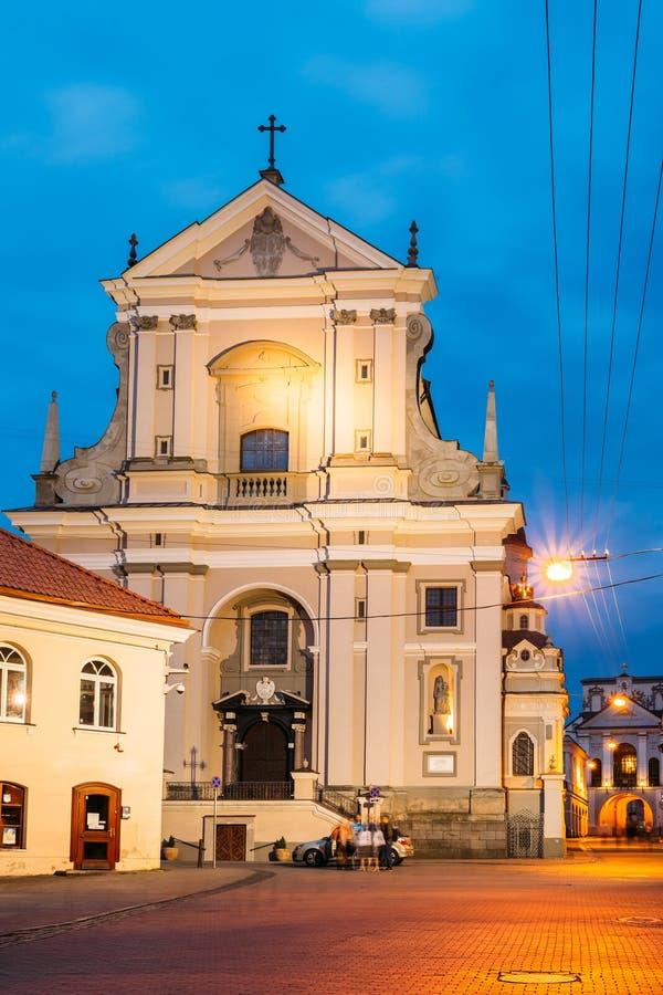 Vilnius Lituania Chiesa cattolica barrocco antica di St Teresa fotografie stock