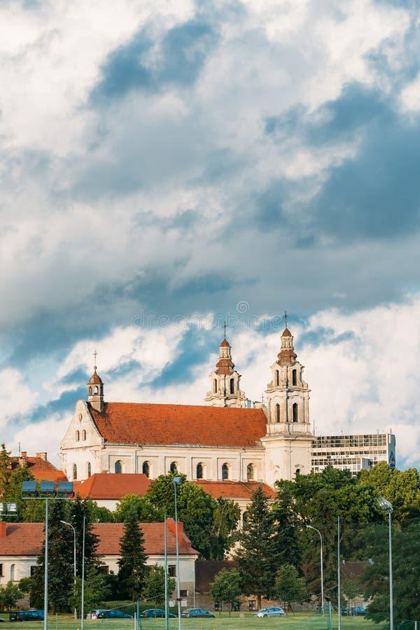 Vilnius, Lituania Iglesia del monasterio de la jesuita del St Raphael The Archangel And Former imágenes de archivo libres de regalías