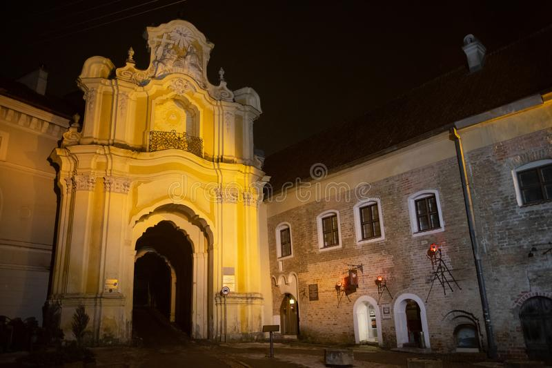 Vilnius, Lituania: il portone dell'alba fotografia stock